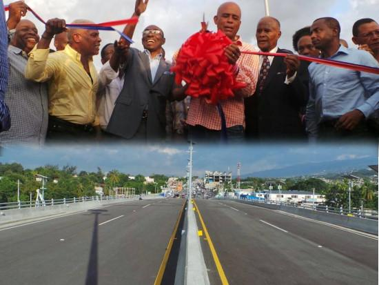 Image result for martelly inaugurates delmas overpass photos