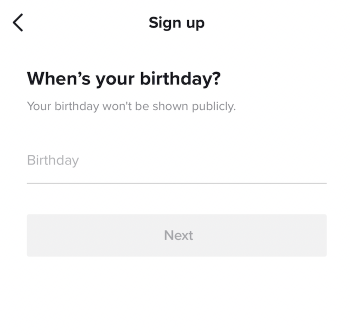 TikTok - When's your birthday?