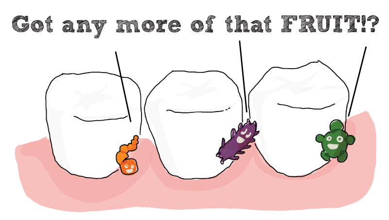 drawing of tooth decay