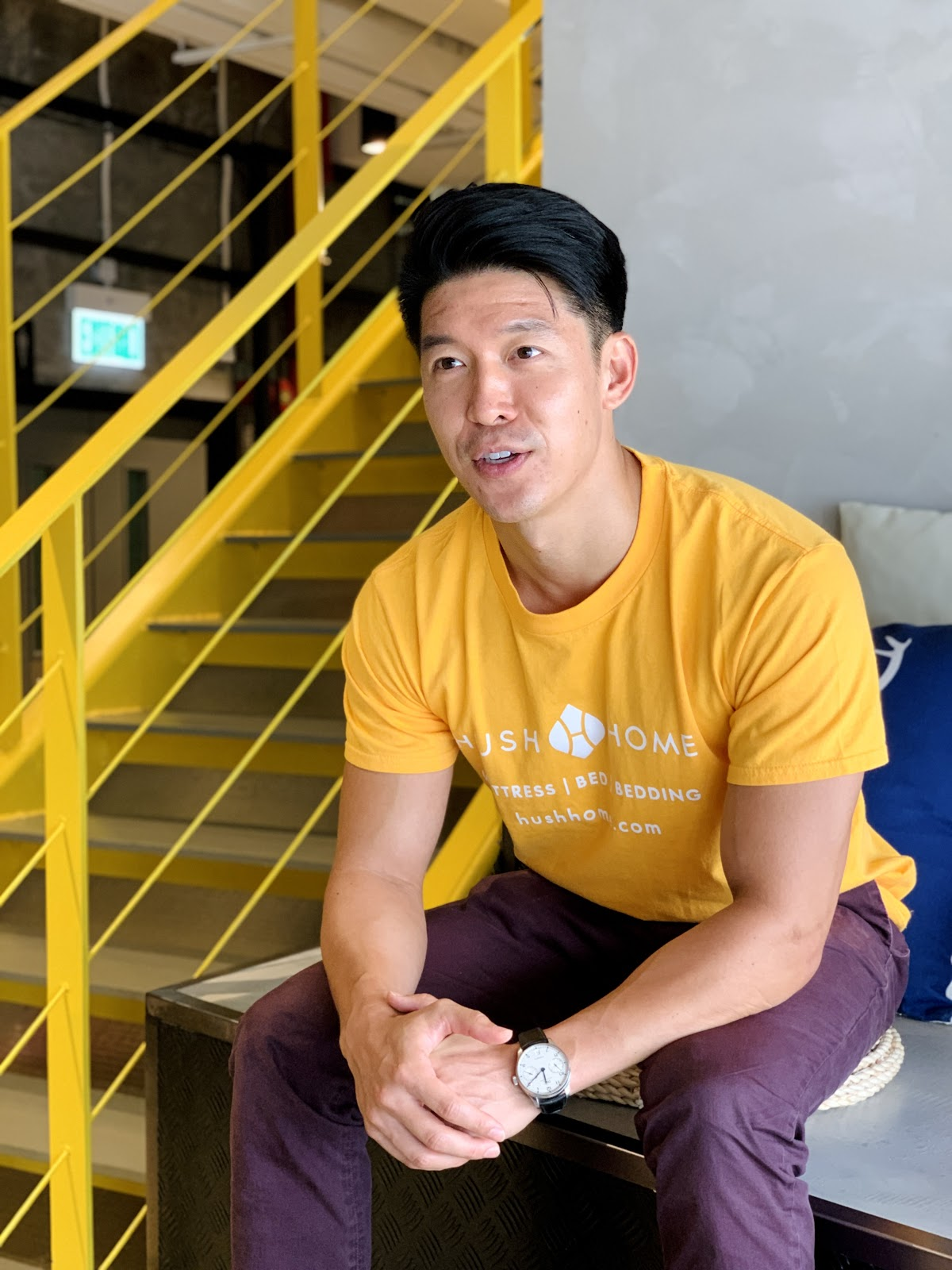 Portrait of Rick Chen during his interview at the Garage Sheung Wan space