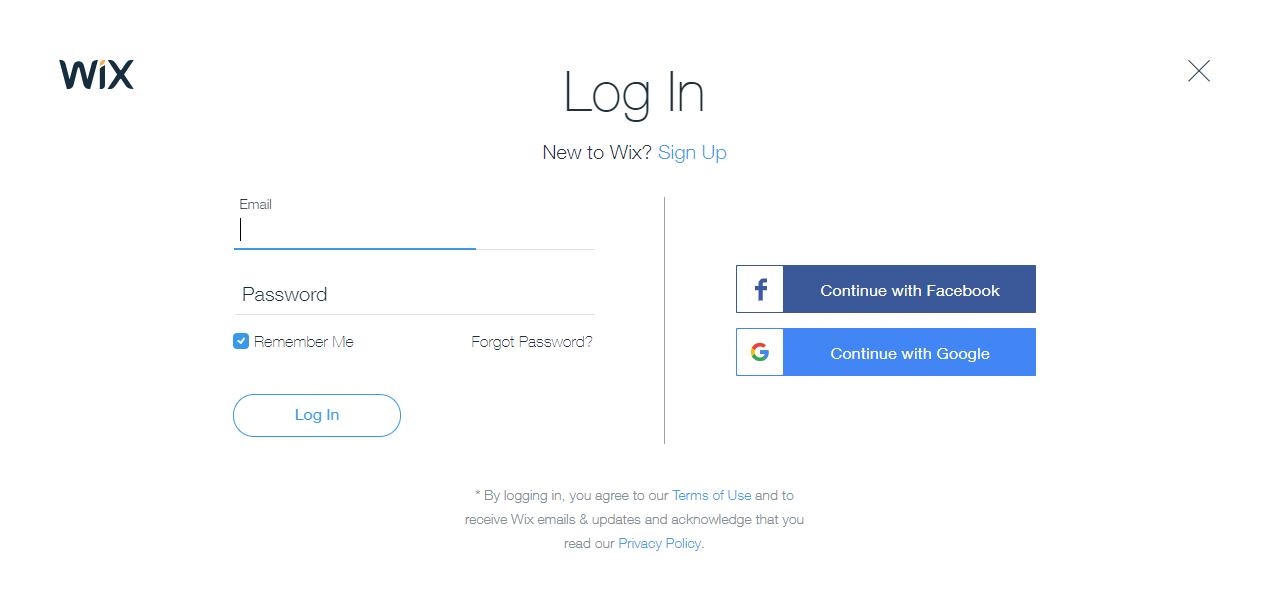 Login to Wix.com