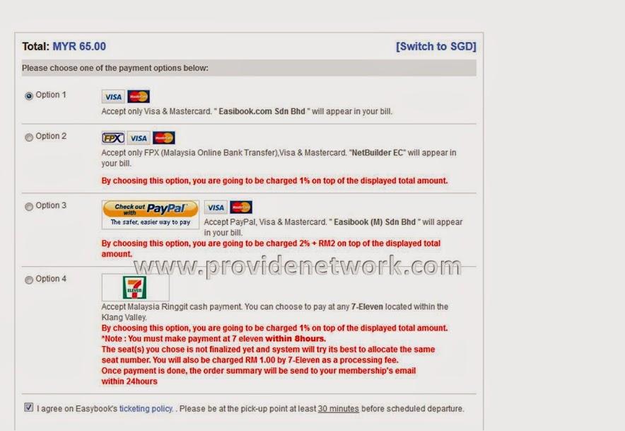 Cara Membeli Tiket bas Online