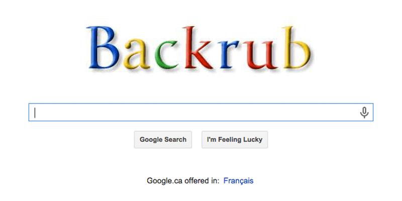 Google awalnya bernama BackRub