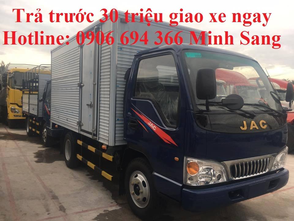 Bán xe tải Jac 2,4 tấn trả góp trả trước 30 triệu giao xe ngay tại sài gòn