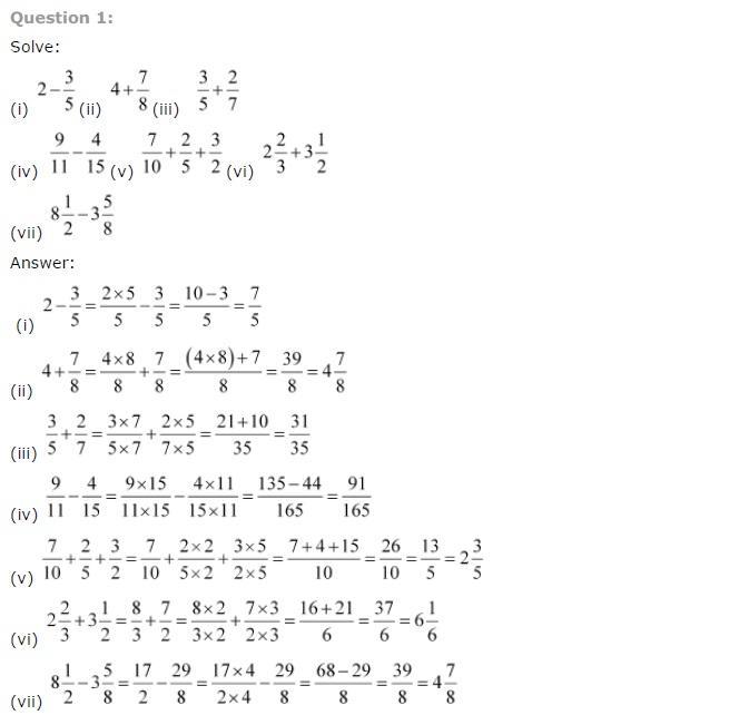 Maths Solution