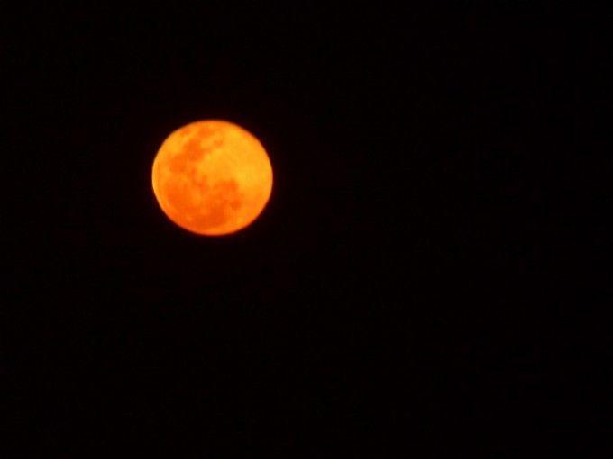 Resultado de imagen de la luna naranja