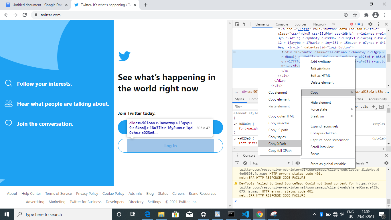 How to Automatically Login on Twitter using Selenium Webdriver - Python