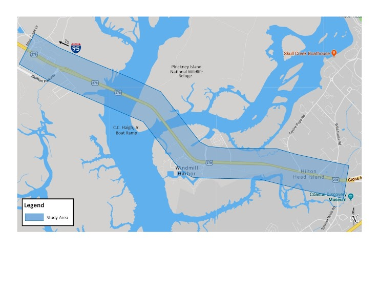 Project limits are from Moss Creek Drive to Spanish Wells Road