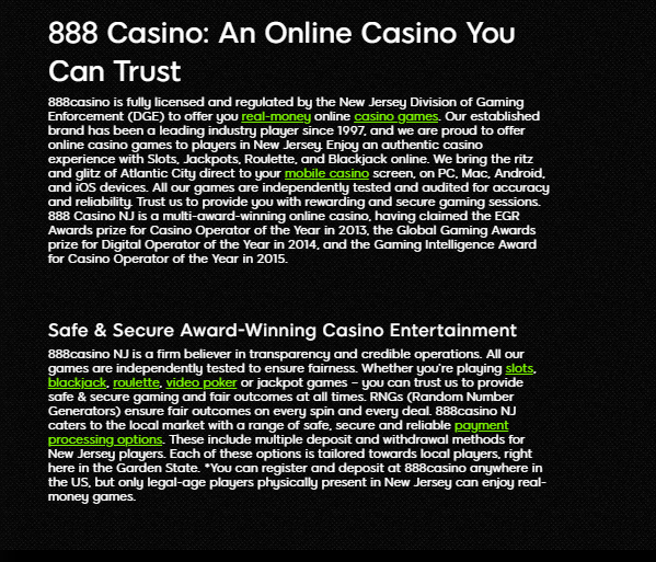 888Casino Website