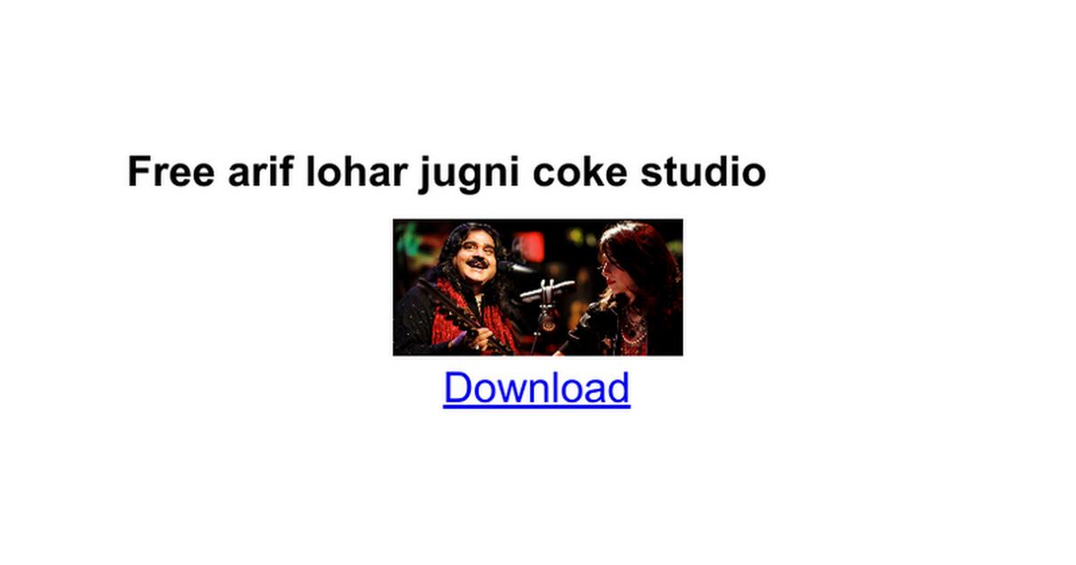 Arif lohar artists season 8 coke studio pakistan.