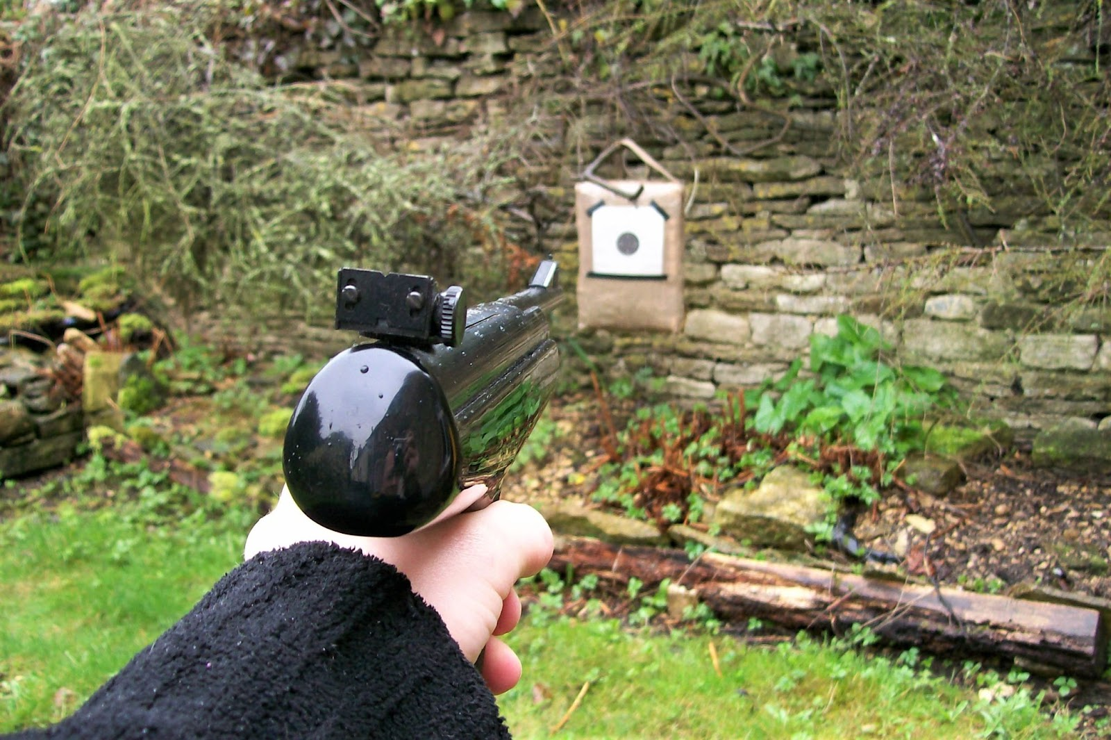 shooting with a safe backstop