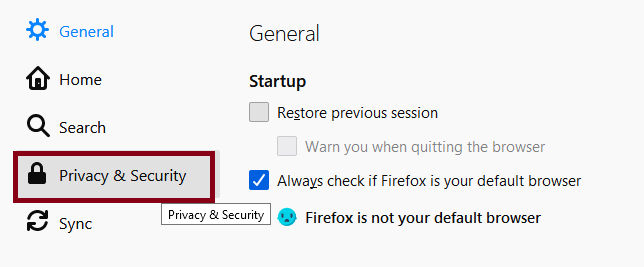 How to disable Autofill  from Firefox
