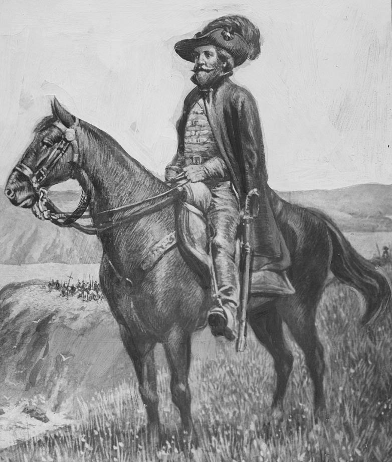 Juan Bautista de Anza a caballo durante sus expediciones