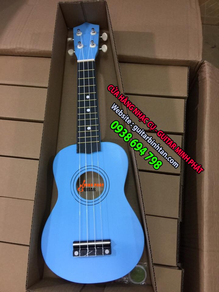 Đàn ukulele màu xanh biển