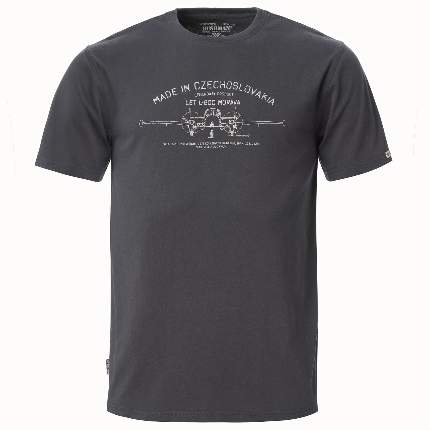 Recenze Bushman: Bavlněné tričko s potiskem MADE IN CZECHOSLOVAKIA