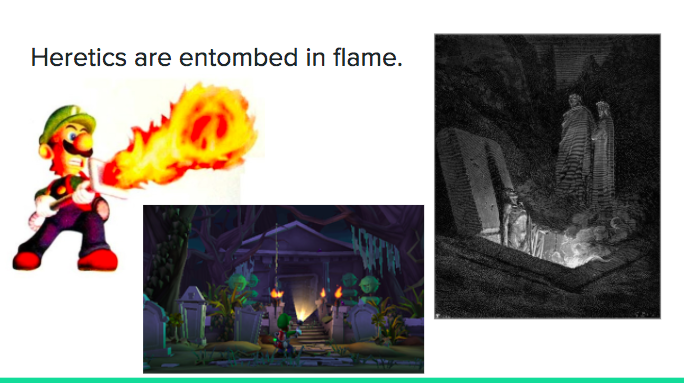 Luigi's Mansion Dante's Inferno - fire