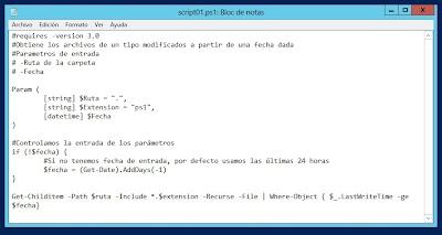 Ejemplo básico de script