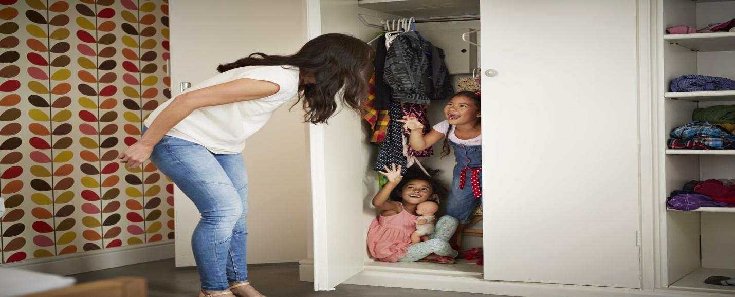 playing hide and seek as rainy days activities for teens