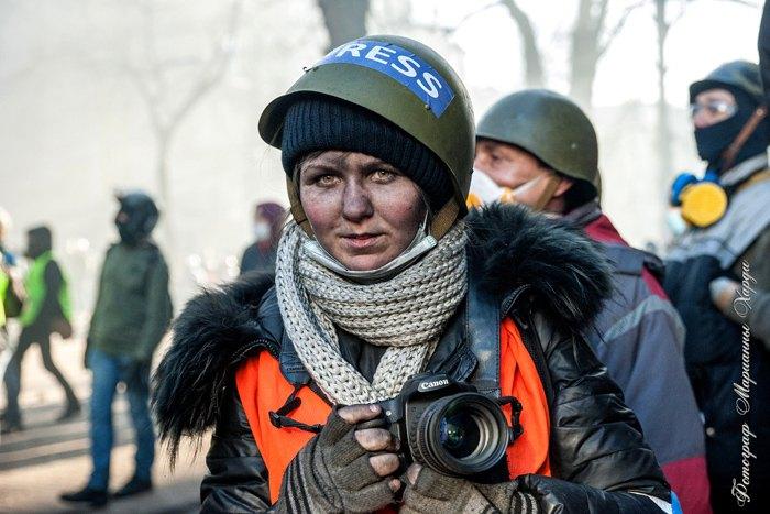 Потерпіла Марія Хардікова приблизно за пів години до побиття 18 лютого 2014 року