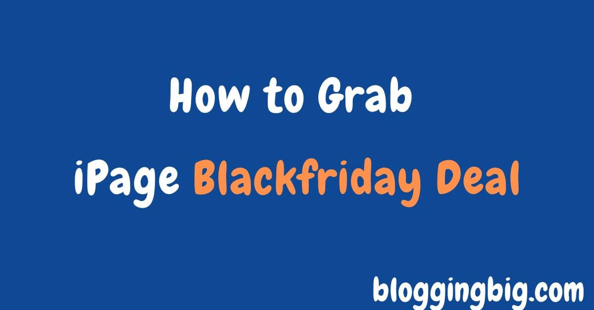 how to grab ipage hosting in blackfriday