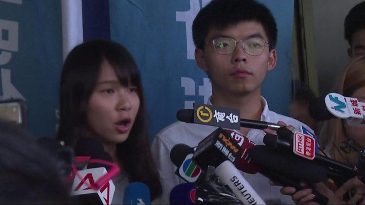 activistas-democracia-Hong-Kong-Joshua-Wong-Agnes-Chow
