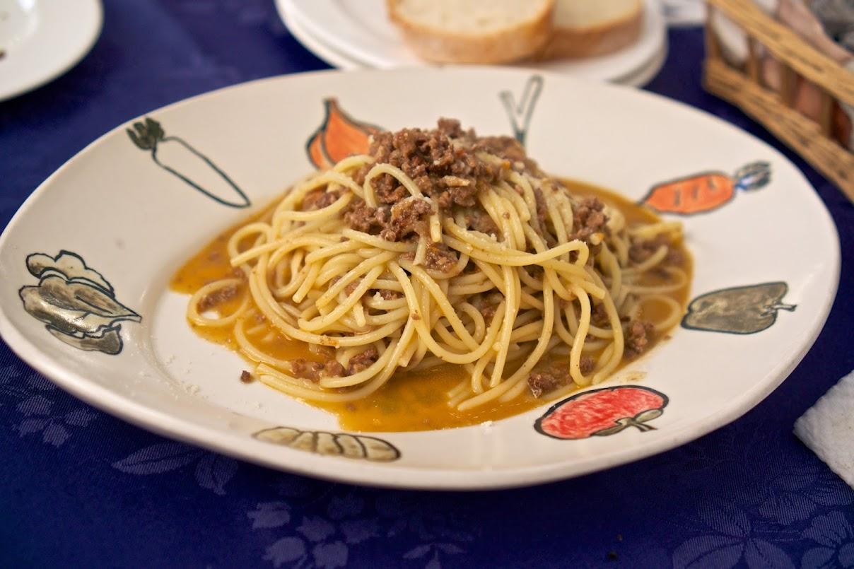 PASTA「ポルチーニ茸と牛肉のラグーソース」