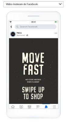 Ubicación videos Instream Facebook