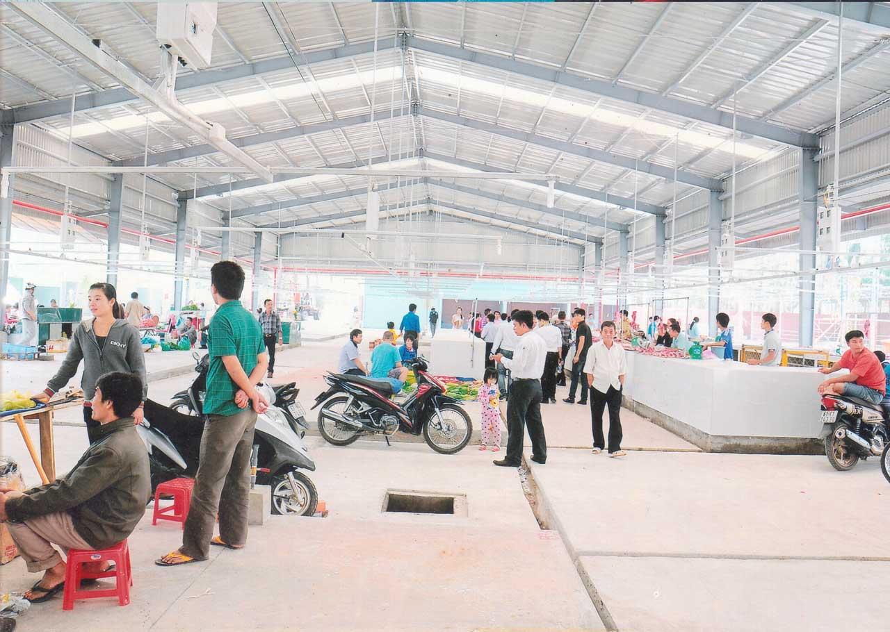 Dự án chợ Vĩnh Tân do công ty bất động sản hoàng khôi cung cấp