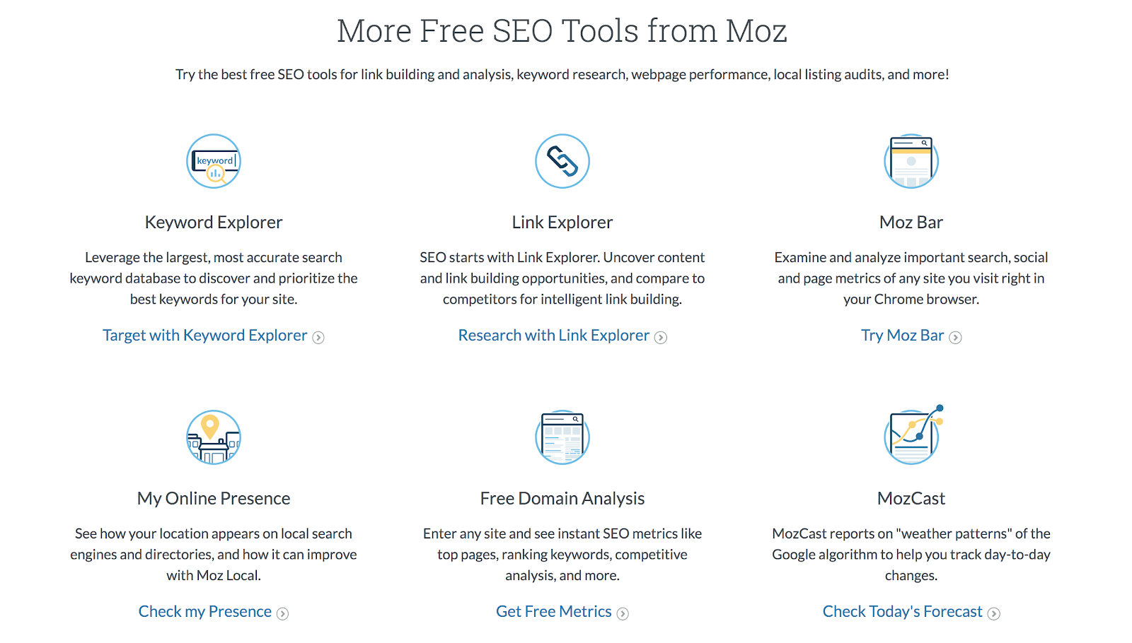 Free Moz SEO tools for bloggers