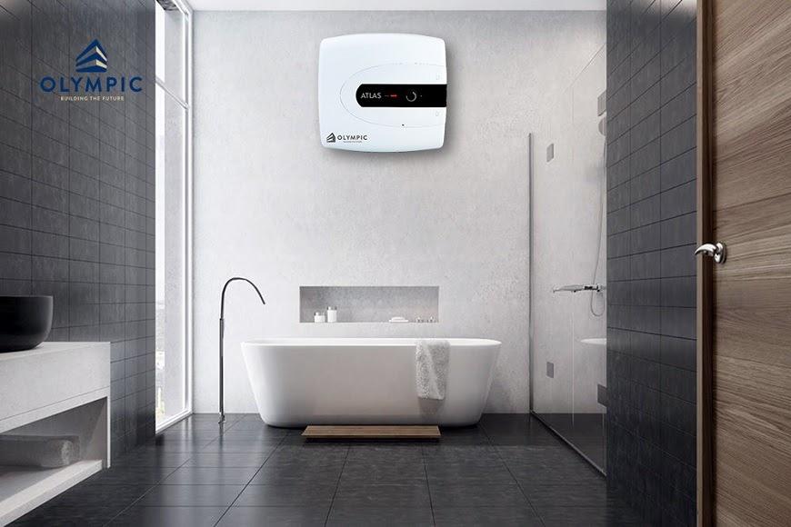 Nhà tắm gây ấn tượng với tông đen độc đáo