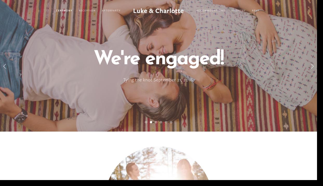 sample wedding website