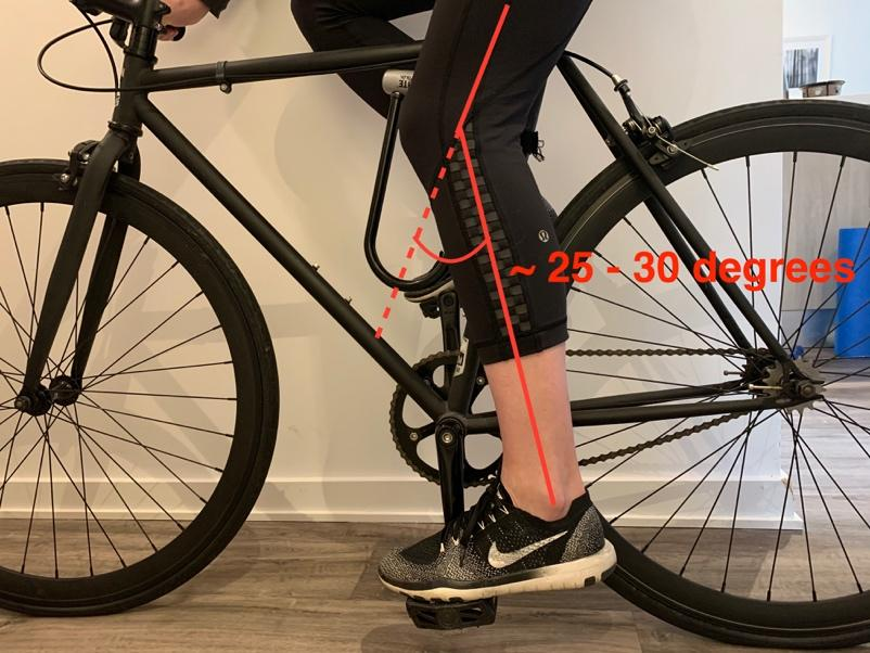 A bicycle leaning against a wall  Description automatically generated