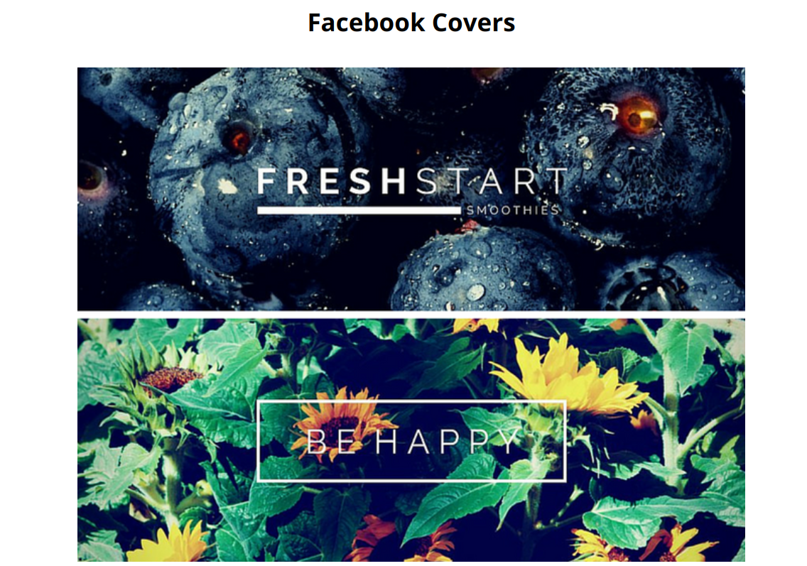 examples of facebook covers designed on canva