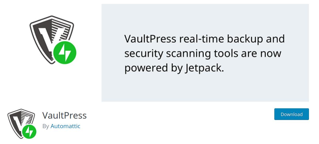 vaultpress wordpress backup plugin header