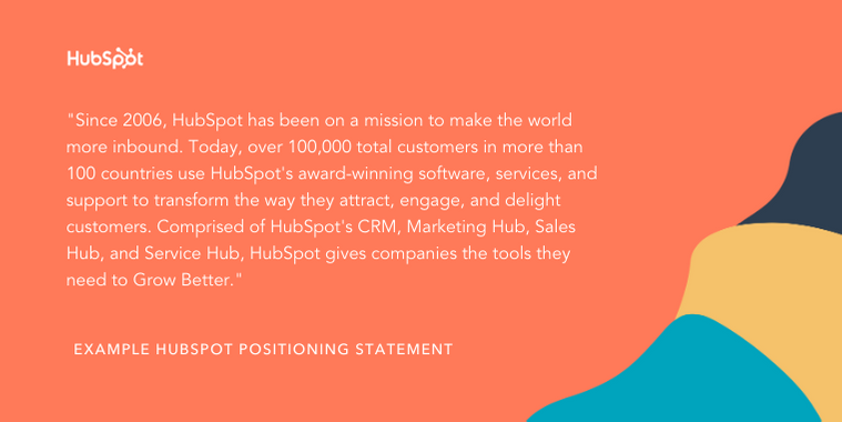 HubSpot sample positioning statement