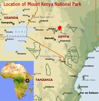 mount kenya africa map