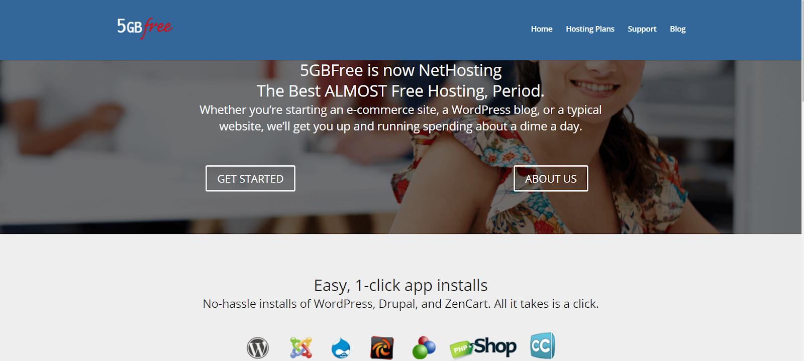 5gbfree homepage website hosting
