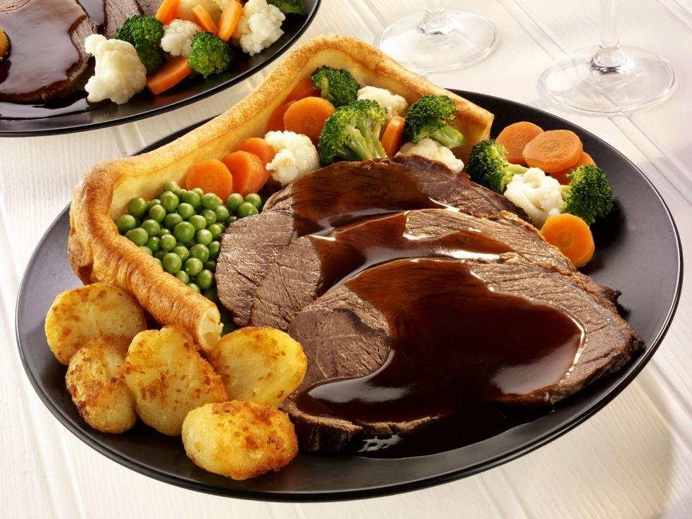 Image result for Roast Beef and Yorkshire Pudding