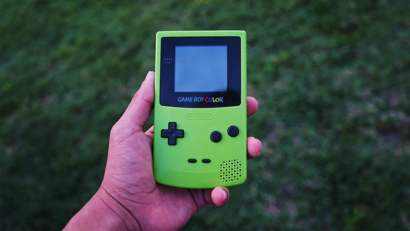 This green Game Boy color is one of the first portable gaming tools, and is the epitome of old school games