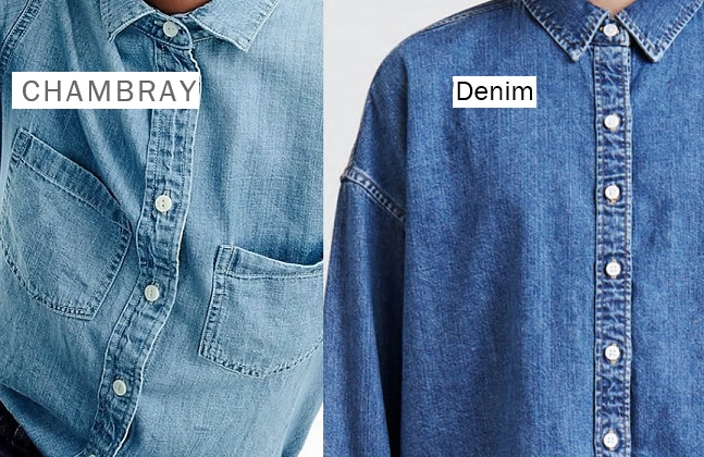 The difference between chambray and denim