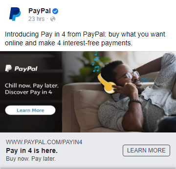 PayPal ad entices new customers