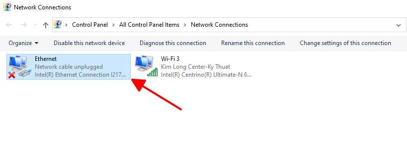 laptop không bật được wifi bước 2