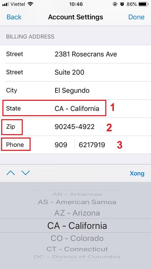 Hướng dẫn đổi lại khu vực tài khoản iTunes Mỹ để không bị tính thuế 5