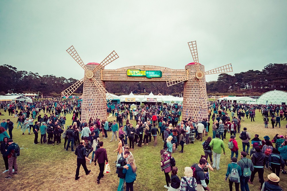 Entrance to Outside Lands festival
