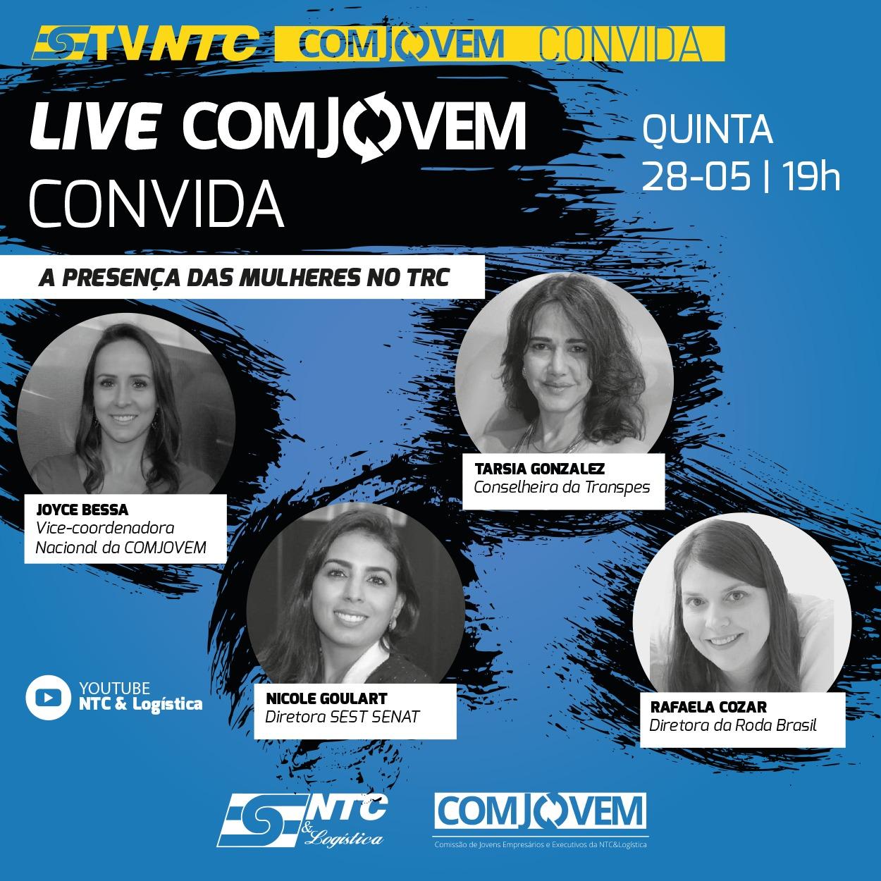 'COMJOVEM Convida' recebe hoje a participação de mulheres executivas do setor
