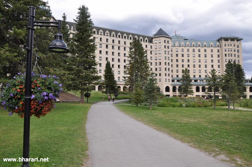 The luxurious Fairmont Chateau Lake Louise