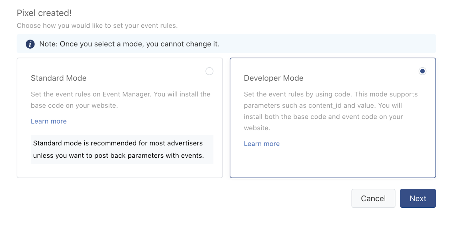 developer mode tiktok pixel