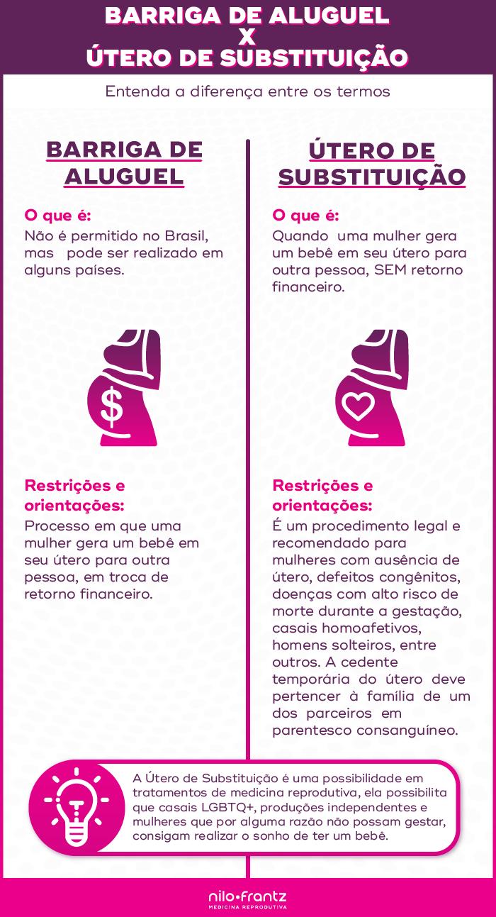 Barriga de aluguel e útero de substituição: Entenda a diferença entre os termos.