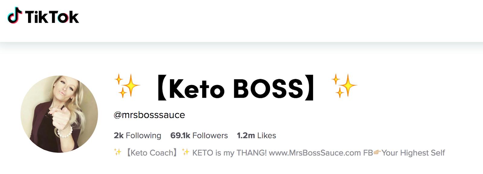 Mrs. Boss Sauce | Keto Health Influencer
