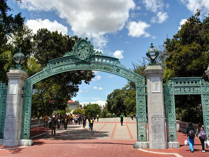 """Photo: """"Scenes from UC Berkeley - Sather Gate"""" by John-Morgan."""